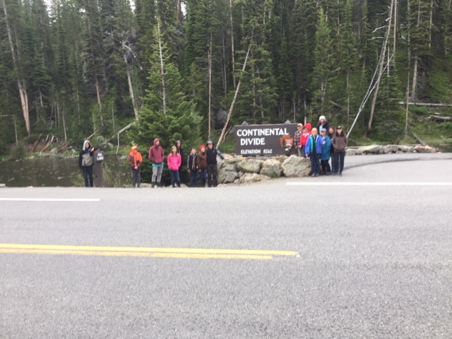 Upper Valley students standing at the Continental Divide