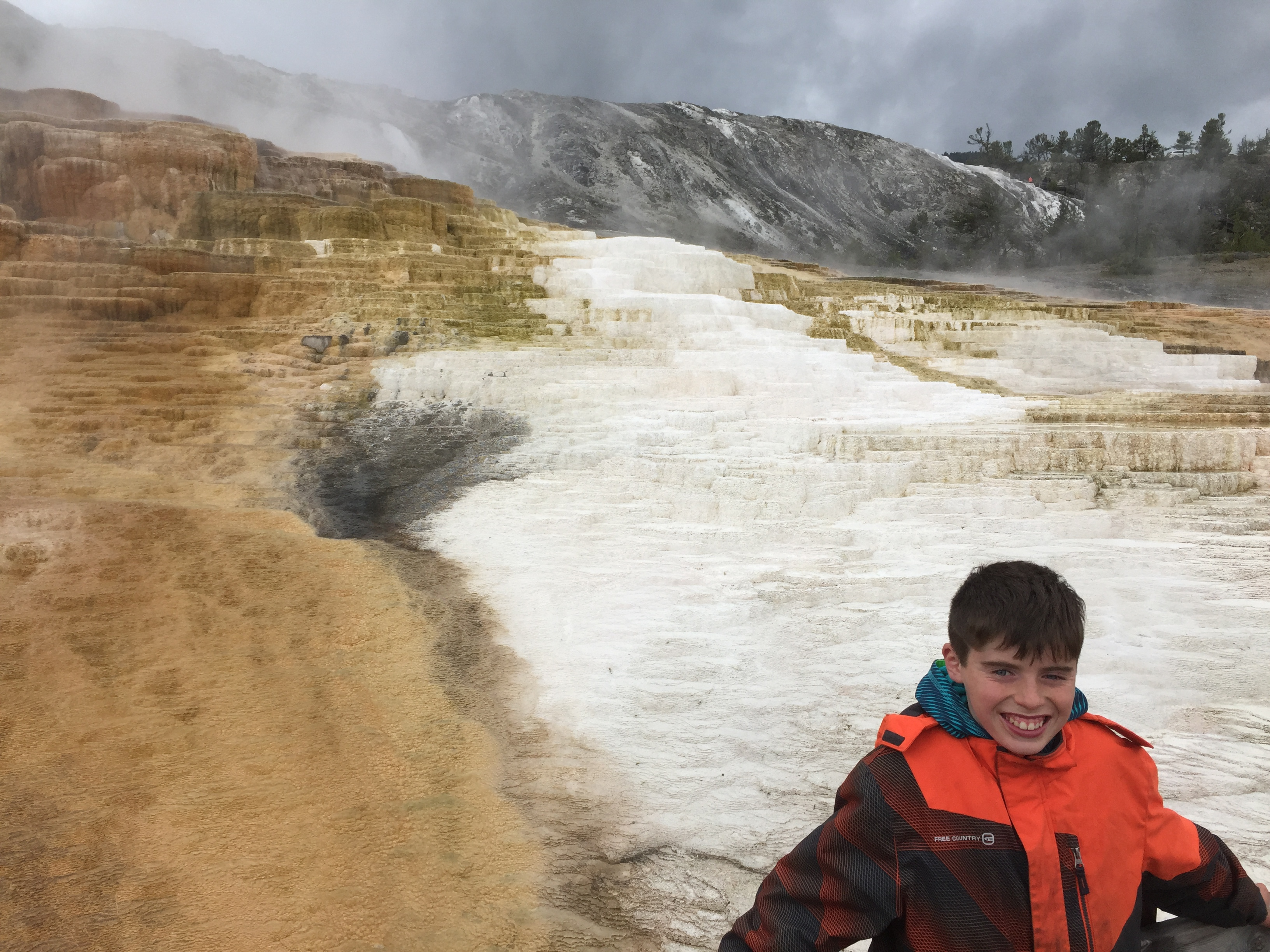 Student at Yellowstone National Park
