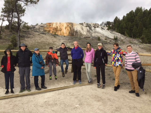 Students at Yellowstone National Park