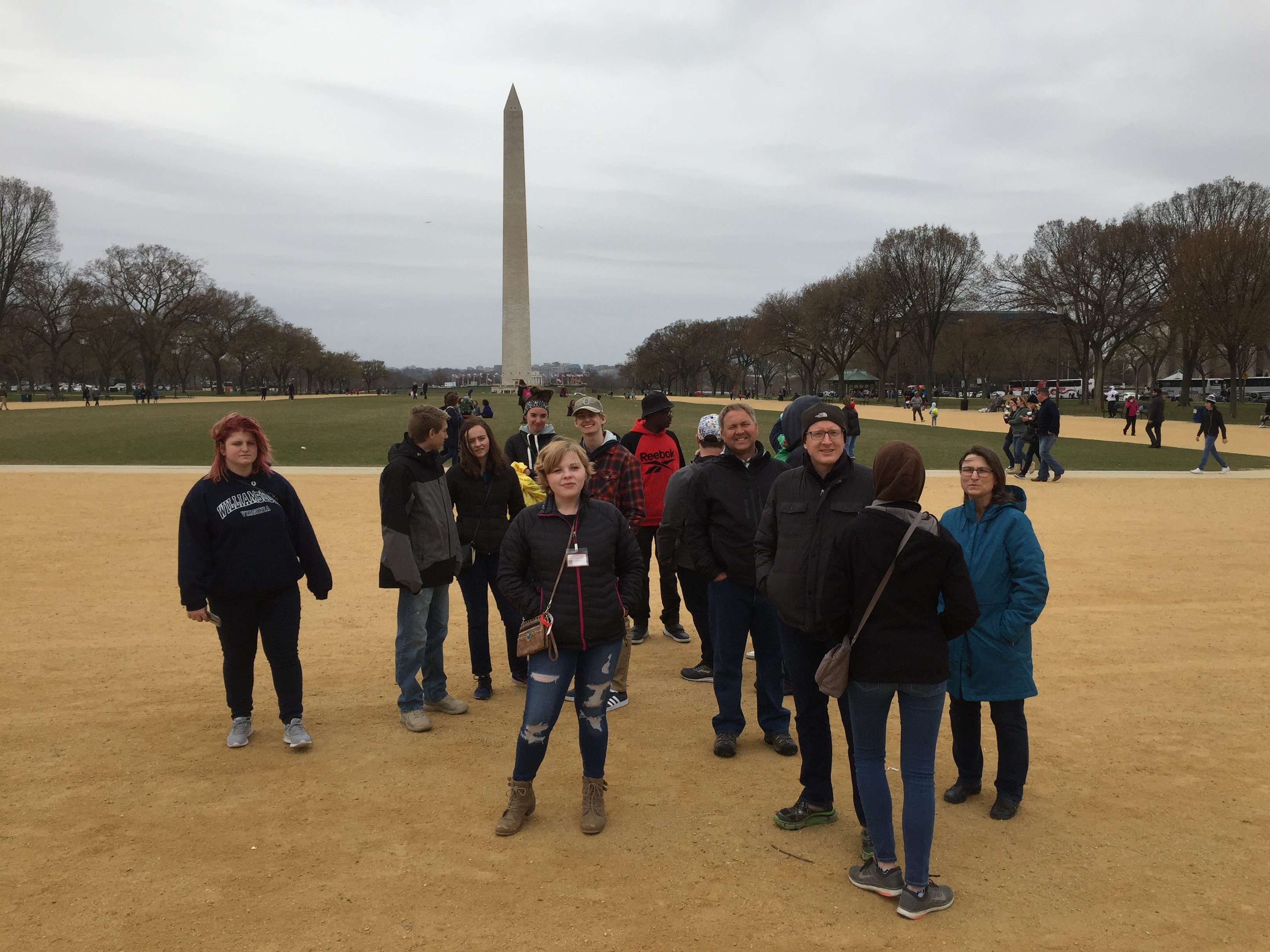 Students at National Mall in Washington, D.C.